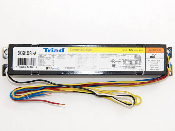 universal 120 volt four lamp f32t8 electronic ballast