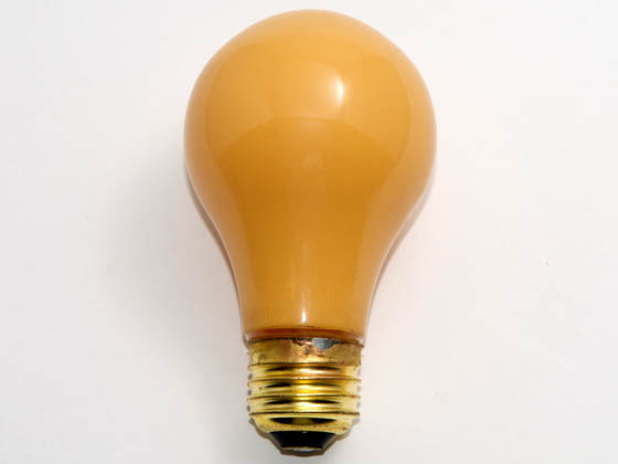 Bulbrite B103100 100A/YB 100W 130V A19 Yellow Bug Bulb, E26 Base