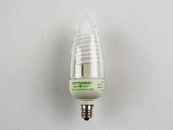 Litetronics MB-540DP 5W/C11/CL/PW 120V 5W Clear C11 Dimmable Cold Cathode Bulb, E12 Base