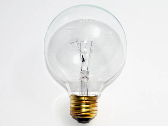 Bulbrite B331025 25G25CL3 (130V) 25W 130V G25 Clear Globe Bulb, E26 Base