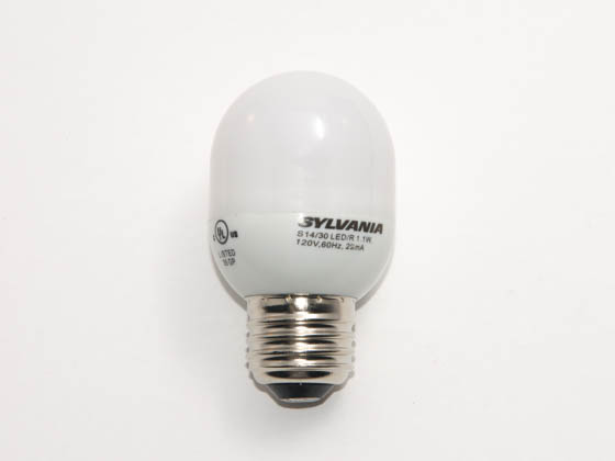 Sylvania SYL72092-0 S14/30LED/R (Red) 11 Watt Replacement! 1 Watt, LED S14 Red Sign/Indicator Bulb