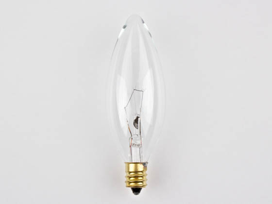 Bulbrite 400540 40CTC/HV (220V) 40W 220V Clear Blunt Tip Decorative Bulb, E12 Base
