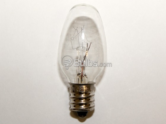 Bulbrite 709104-Nickel 4C7C-NI 4 Watt, 120 Volt C7 Clear Night/Holiday Light Bulb