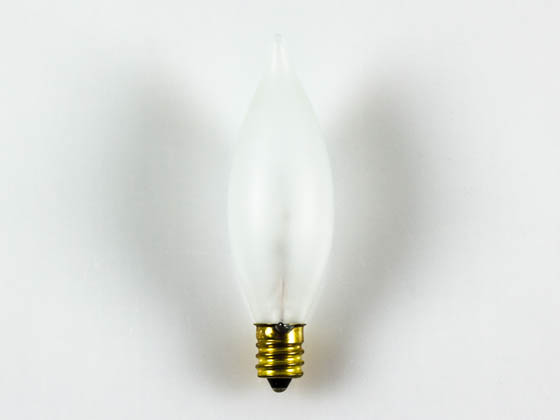 Bulbrite 494140 40CFF/25/2 (120V) 40W 120V Frosted Bent Tip Decorative Bulb, E12 Base