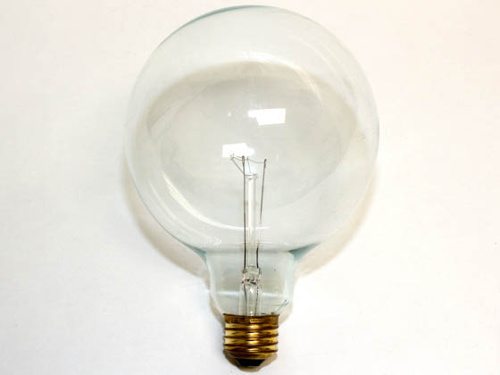 Bulbrite 351025 25G40CL (125V) 25W 125V G40 Clear Globe Bulb, E26 Base