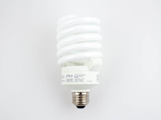 TCP TEC48942-50 4894250K 42W Long Life High Lumen Bright White Spiral CFL Bulb