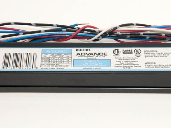 Advance Transformer ICN1P32N35I ICN1P32N35I (120-277V) Philips Advance Electronic Ballast 120V to 277V for (1) F32T8