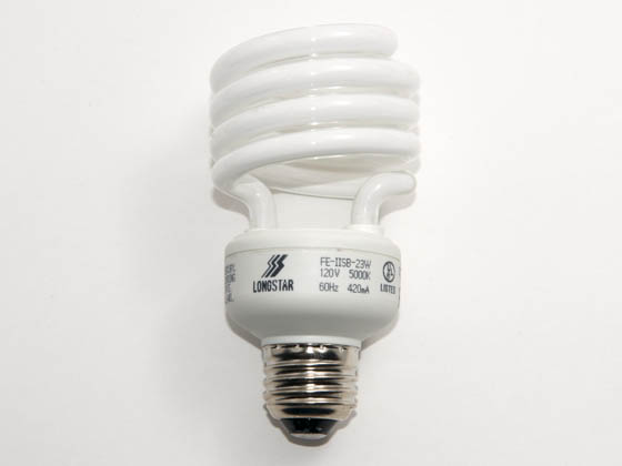 Longstar FE-IISB-23W/50K Long Star 23W 120V Bright White CFL Bulb, E26 Base