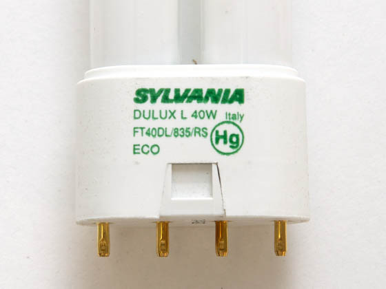 Sylvania SYL20585 FT40DL/835/RS/ECO 40W 4 Pin 2G11 Neutral White Long Single Twin Tube CFL Bulb