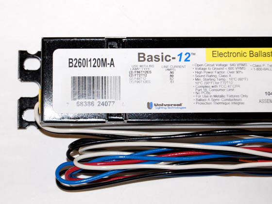 Universal B260I120M-A Electronic Ballast 120V for (2) F96T12ES