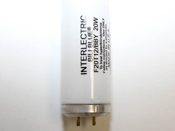 Interlectric Corporation F20T12/BB F20T12/BBY 20 Watt, 24 Inch T12 Bili Blue Fluorescent Bulb