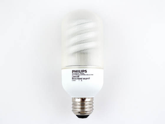 Philips 14w Warm White Outdoor Bullet Cfl Bulb E26 Base