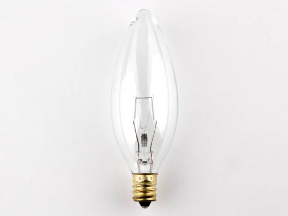 Bulbrite 400560 60CTC/HV (220V) 60W 220V Clear Blunt Tip Decorative Bulb, E12 Base