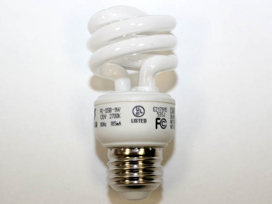 Longstar FE-IISB-9W/27K Long Star 9W Warm White CFL Bulb, E26 Base