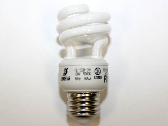 Longstar FE-IISB-9W/50K Long Star 9W Bright White CFL Bulb, E26 Base