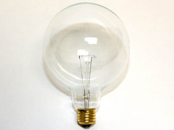 Bulbrite 351040 40G40CL (125V) 40W 125V G40 Clear Globe Bulb, E26 Base