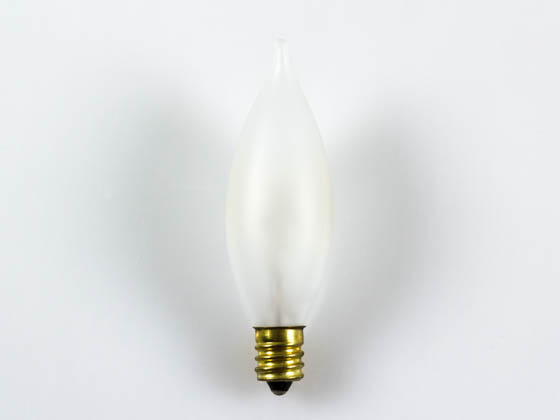 Bulbrite 494115 15CFF/25/2 15W 120V Frosted Bent Tip Decorative Bulb, E12 Base