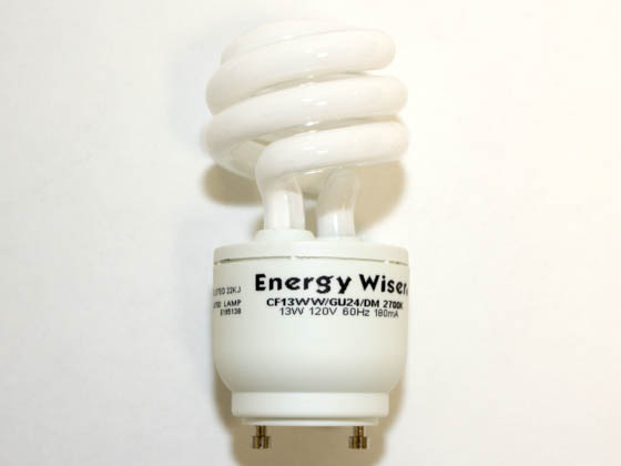 Bulbrite 509813 CF13WW/GU24/DM 13W Dimmable Warm White GU24 Spiral CFL