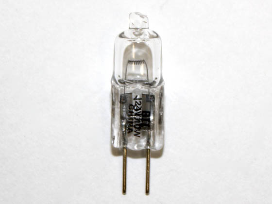 Bulbrite 651011 Q10G4/24 10W 24V Halogen T3 Clear General Use Capsule Bulb