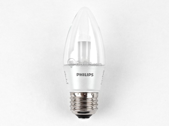 Philips Lighting 426916 3B12/END/2700-E26 DIM 8/1 Philips 25W Incandescent Equivalent, Dimmable, 25,000 Hour,  3 Watt, 120 Volt Warm White LED Decorative Bulb