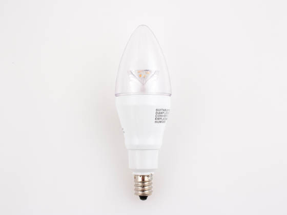 Toshiba 4B11/27CC-UP T4B11/27CC-UP 25W Incandescent Equivalent, Dimmable, 25,000 Hour,  3.8 Watt, 120 Volt Warm White LED Clear Decorative Bulb