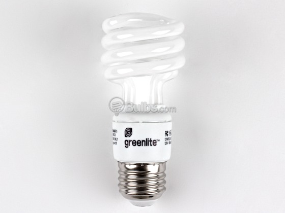 Greenlite Corp. 355010 13W/ELS-U Greenlite 13W Warm White Spiral CFL Bulb, E26 Base