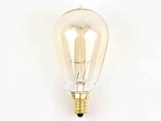 Bulbrite B132510 NOS25ST15/SQ/E12 25W 120V ST15 Nostalgic Decorative Bulb, E12 Base