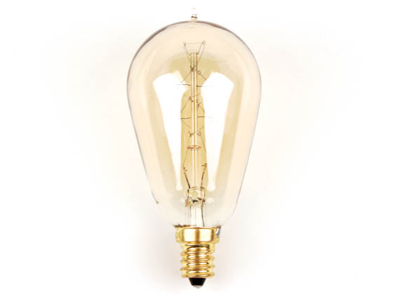 Bulbrite B132511 NOS25ST15/E12 25W 120V ST15 Nostalgic Decorative Bulb, E12 Base