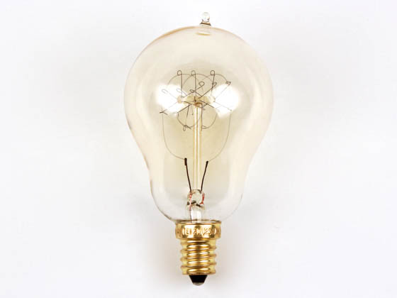 Bulbrite B132516 NOS25A15/LP/E12 25W 120V A15 Nostalgic Decorative Bulb, E12 Base