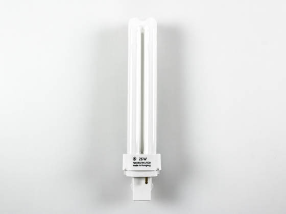 GE GE97609 F26DBX/841/ECO 26W 2 Pin G24d3 Cool White Double Twin Tube CFL Bulb