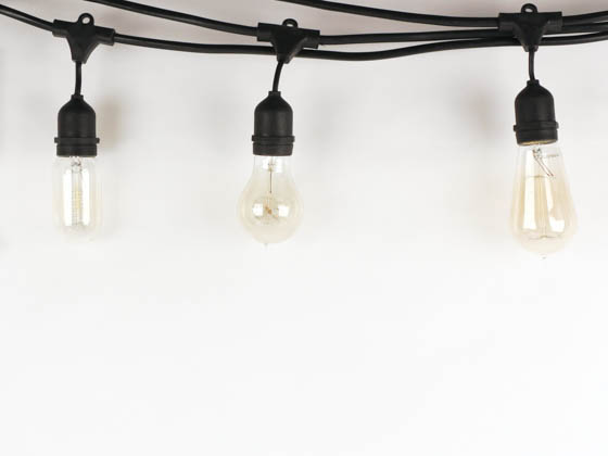 Bulbrite 810004 STRING15/E26-A19KT 15 Socket String Lights with STA 19 (NOS25 VICTOR) Bulbs Included