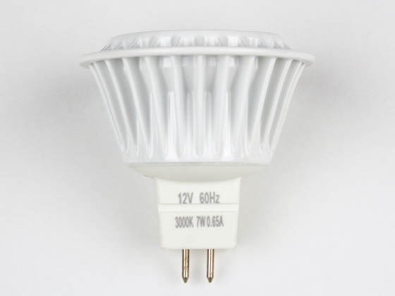 TCP LED712VMR1630KNFL LED712VMR1630KNFL (Discontinued-replace with LED712VMR16V30KNFL) 50 Watt Equiv., 7 Watt, LED MR-16 DIMMABLE 3000K Narrow Flood Lamp with GU5.3 Base