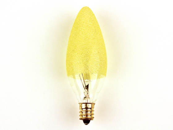 Bulbrite 144010 25B10/ICE 25W 120V Amber Ice Decorative Bulb, E12 Base