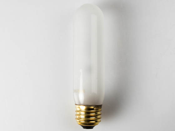 Satco Products, Inc. 40T10 (Safety) Frosted 40T10/IF (Safety) 40 Watt, 130 Volt 40T10 Frosted Safety Coated Tube Bulb