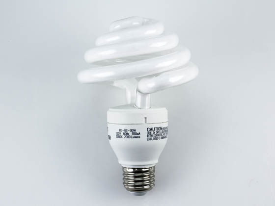 Longstar FE-US-30W/50K FE-US-30W-50K Long Star 30W 120V Bright White Mushroom Style CFL Bulb
