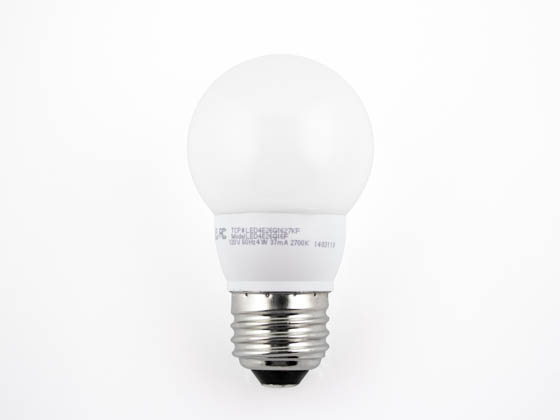 TCP LED4E26G1627KF Dimmable 4W 2700K G-16 Globe Frosted LED Bulb, E26 Base