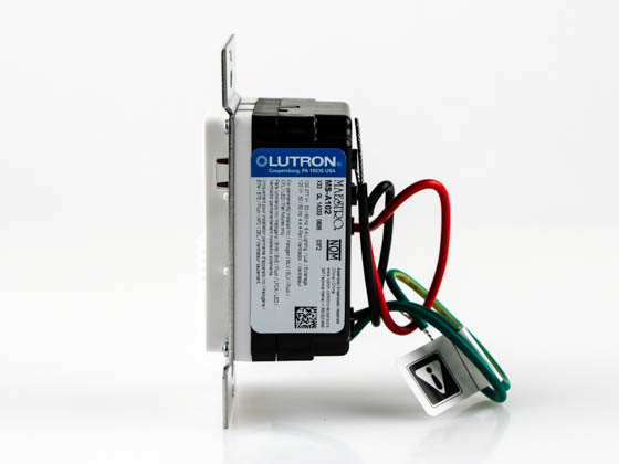 Lutron Electronics MS-A102-WH Lutron Maestro Dual Technology Ultrasonic and PIR Occupancy Sensor Switch, Single Circuit