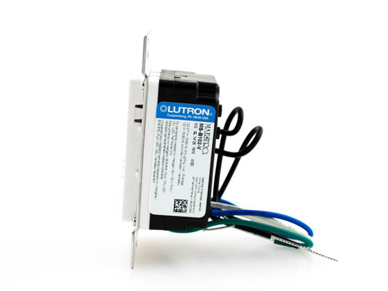 Lutron Electronics MS-B102-V-WH Lutron Maestro Dual Technology Ultrasonic and PIR Vacancy Sensor Switch, Single Circuit