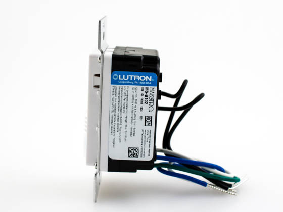 Lutron Electronics MS-B102-WH Lutron Maestro Dual Technology Ultrasonic and PIR Occupancy Sensor Switch, Single Circuit