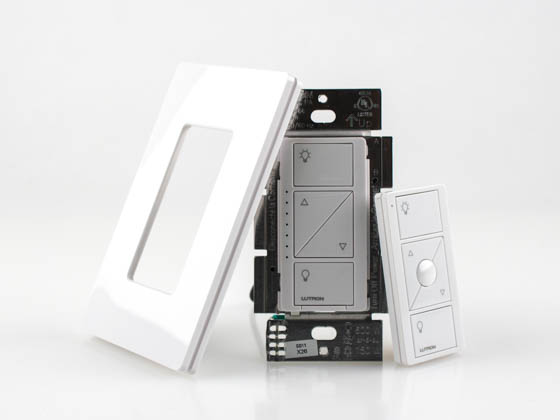 lutron caseta wireless in wall dimmer and pico remote kit p pkg1w wh bulb. Black Bedroom Furniture Sets. Home Design Ideas