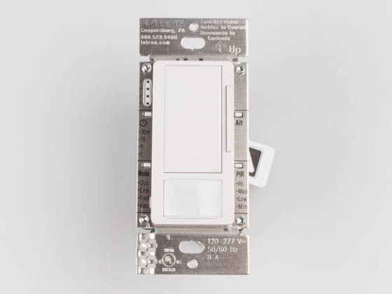 Lutron Electronics MS-Z101-WH Lutron Maestro 0-10V, 120-277V Dimmer With Occupancy/Vacancy Sensor, Multi-Location Single Pole