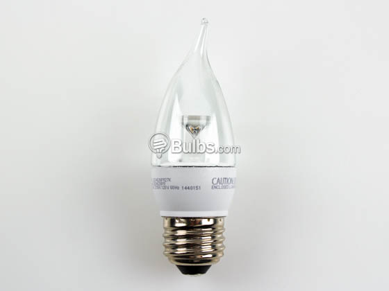 TCP LED4E26F1127K Dimmable 4W Clear Decorative LED Bulb, E26 Base