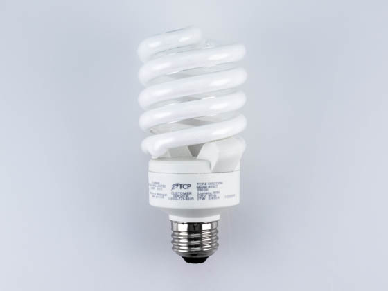 TCP 48927-35K 48927 (3500K) 27W Long Life Neutral White CFL Bulb, E26 Base
