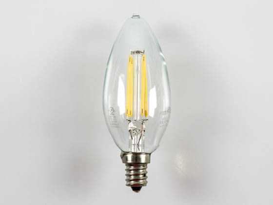 Bulbrite B776556 LED4B11/27K/FIL/E12 Dimmable 4W 2700K Decorative Filament LED Bulb