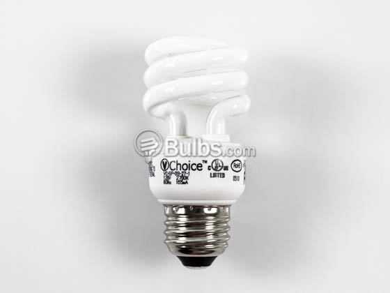 VChoice VC-SP-09-27-1 40W Incandescent Equivalent.  9 Watt, 120 Volt Warm White CFL Bulb.