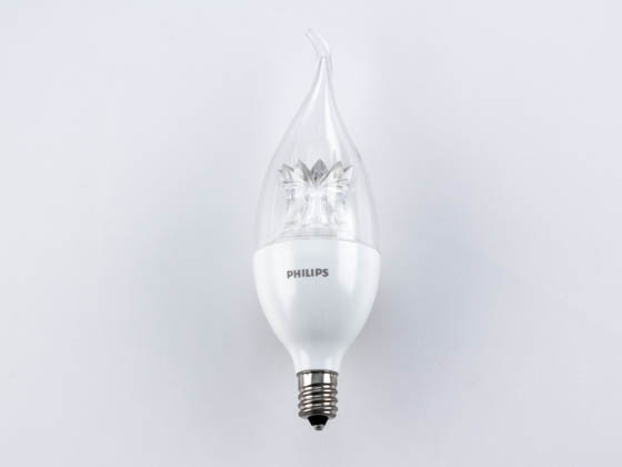 Philips Lighting 457218 4.5BA12/LED/827-22/E12/DIM 120V Philips 4.5W Dimmable 2700K to 2200K Decorative LED Bulb