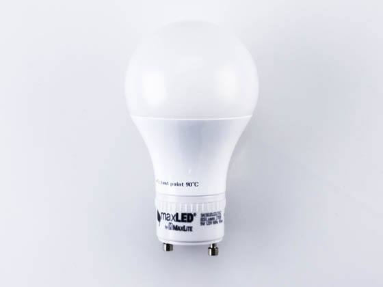 MaxLite 77077 9A19GUDLED27/G2 Dimmable 9W 2700K A19 LED Bulb, GU24 Base