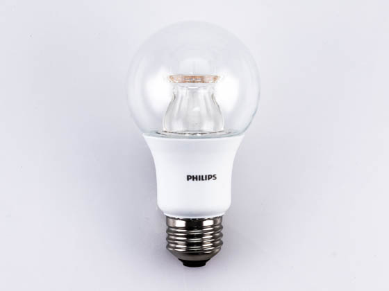Philips Lighting 458836 10A19/LED/827-22/CL/DIM 120V Philips Dimmable 2700K to 2200K 10W A19 LED Bulb