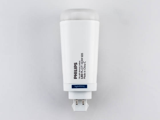 Philips Lighting 458422 10.5PL-C/T LED/26V-3500 IF 4P Philips 10.5W 4 Pin Vertical 3500K G24q LED Bulb, Uses Existing Ballast