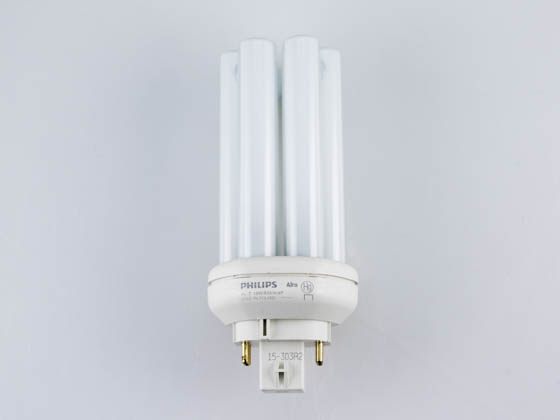 Philips Lighting 458224 PL-T 18W/35/4P/ALTO  (4-Pin) Philips 18W 4 Pin GX24q2 Neutral White Long Triple Twin Tube CFL Bulb